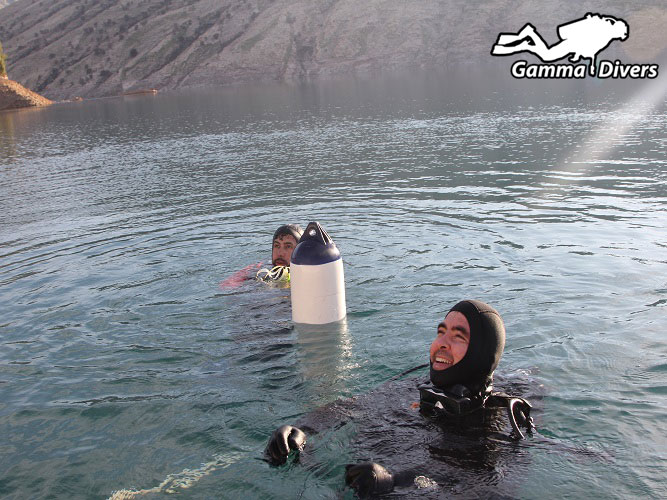 Diving in Shahid Abbas Pour Dam (Masjed soleyman)